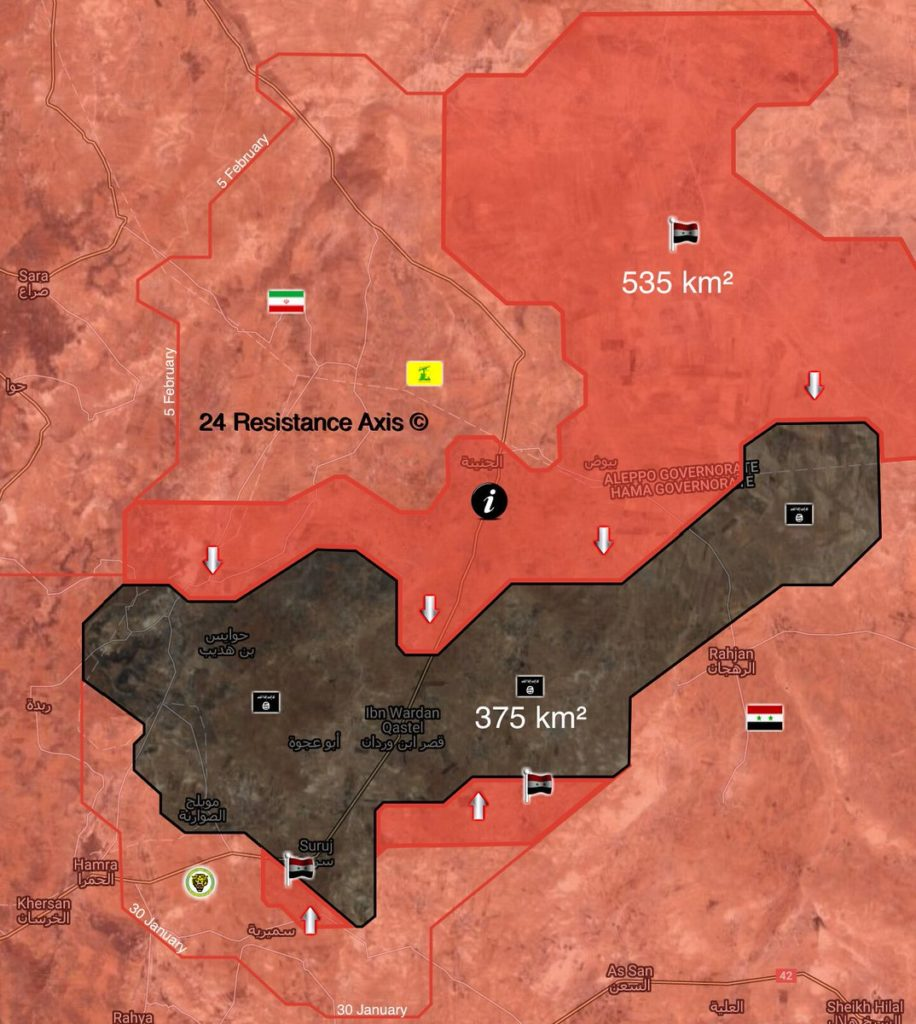Map Update: Government Forces Crush ISIS In Northeastern Hama
