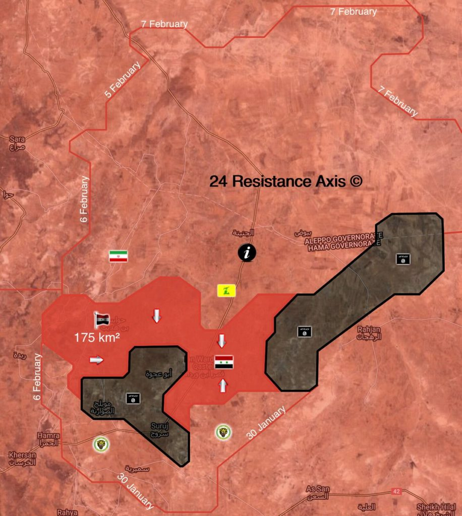 Map: Army Troops Allegedly Separate ISIS-held Pocket In Northeastern Hama Into Two Parts