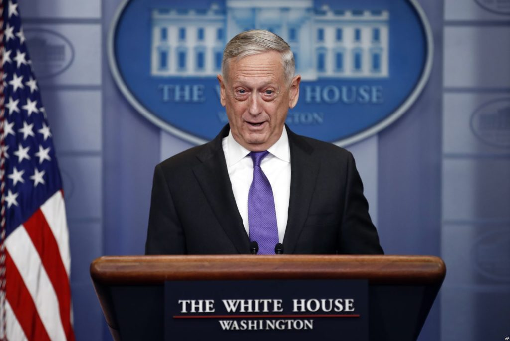"US Defense Secretary Claims U.S. Is Not Engaged In ""Syrian Civil War"""