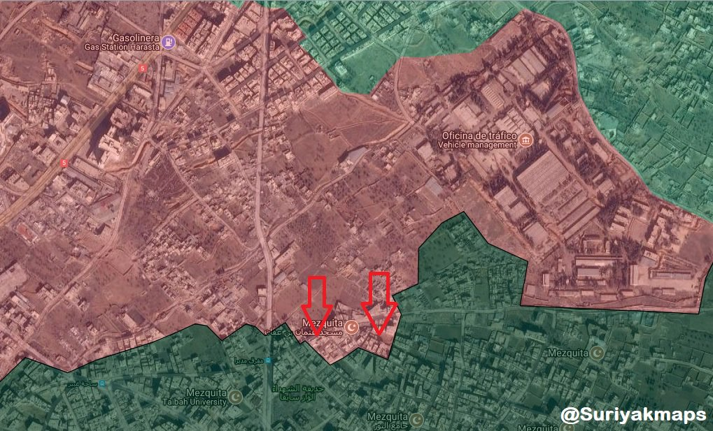 Map: Government Forces Pressure Militants In Damascus' Irbin District