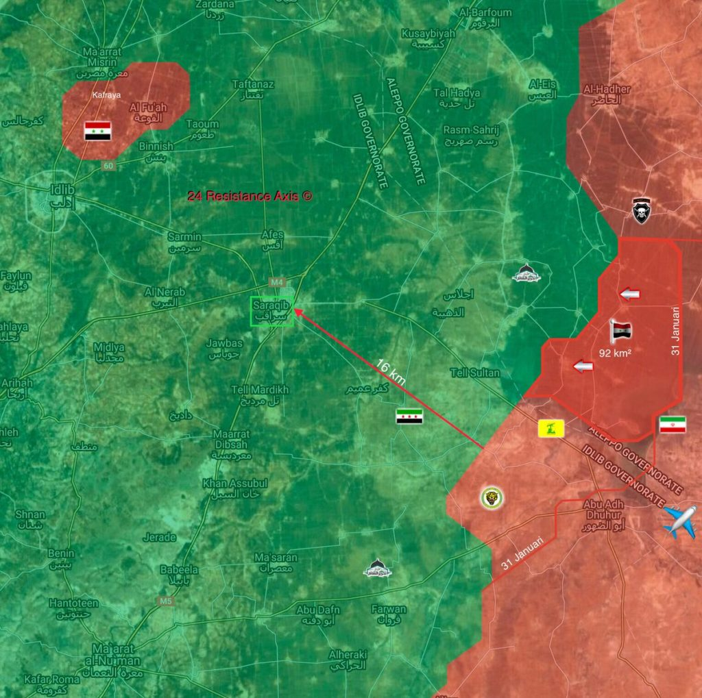 Government Troops Deploy WIthin 16 KM From Strategic Town Of Saraqib (Map Update)