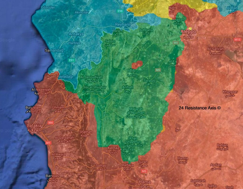 Map Comparison: Development Of Military Situation In Idlib Proivince Since Start Of 2018