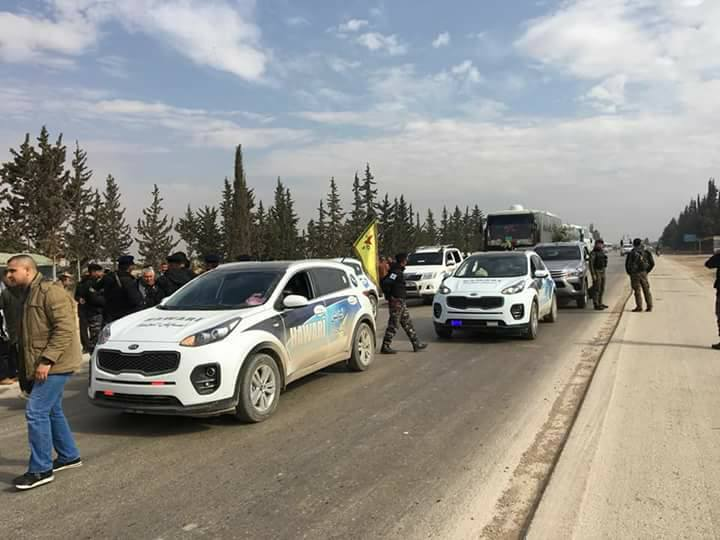 Large YPG/YBS Convoy Arrived Afrin Through Goernment-held Area To Combat Turkish Forces (Photos)