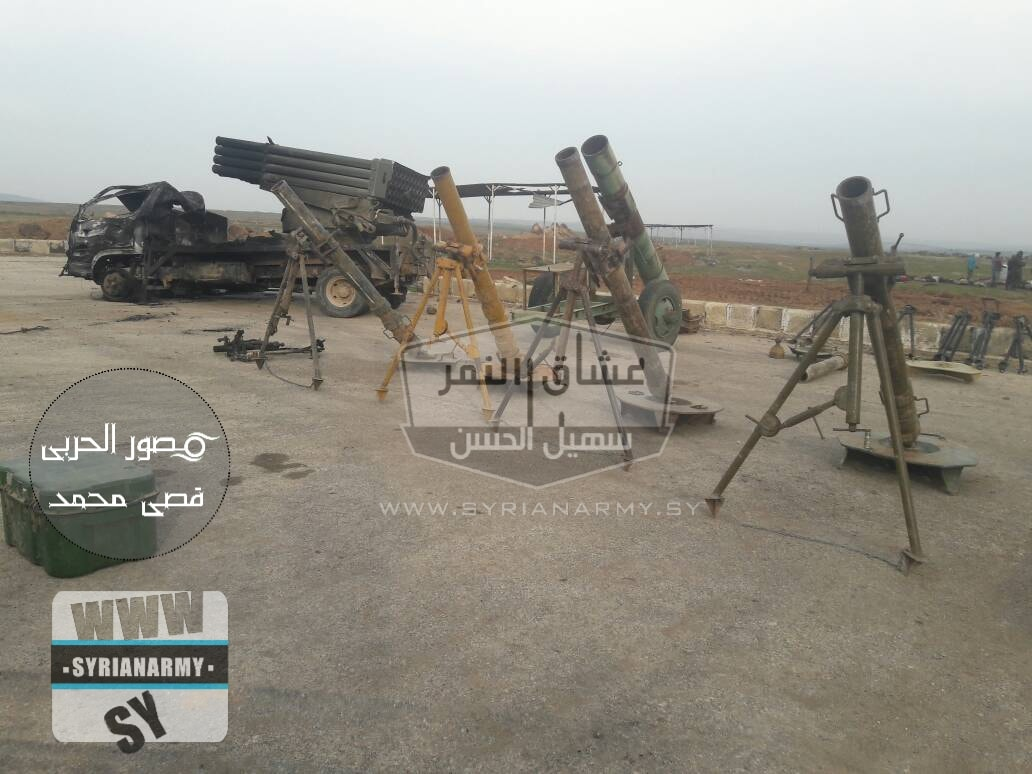 Syrian Army Showcases Large Number Of Weapons Captured From ISIS (Photos)