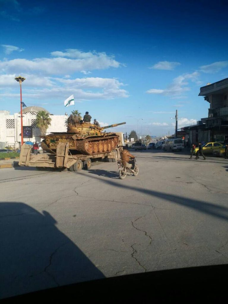 Hayat Tahrir al-Sham Military Equipment Leaving Idlib City For Clashes Against SLF Across Province (Photos)