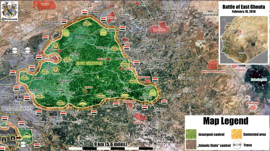 Map Update: Military Situation In Damascus' Eastern Ghouta