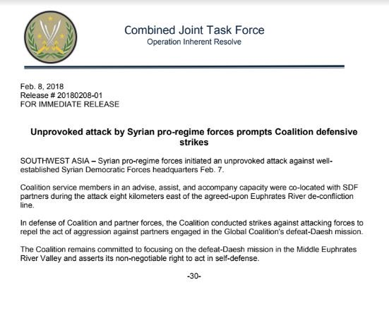 Breaking: US-led Coalition Conducts Strikes Against Syrian Army In Deir Ezzor
