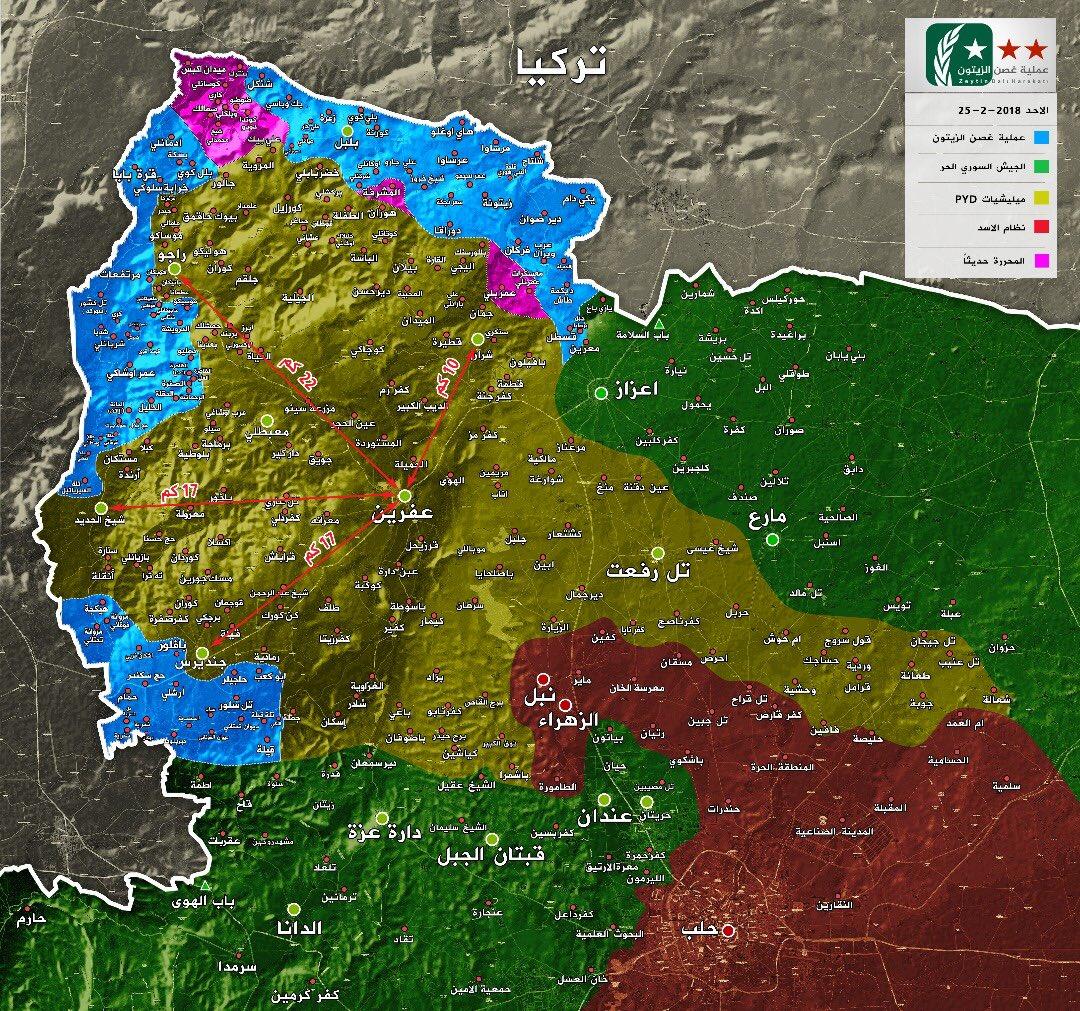 Turkish Army Captures Key Town, Kills Dozens Of Kurdish Fighters In Afrin Area