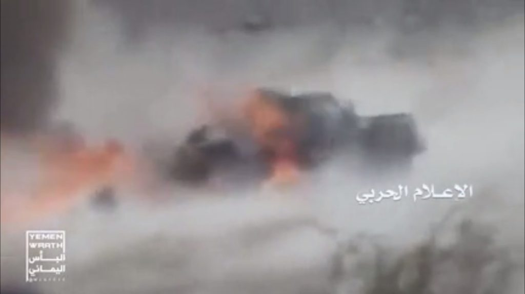 Video: Houthis Ambush Vehicle Of Pro-Hadi Forces In Yemen's Marib