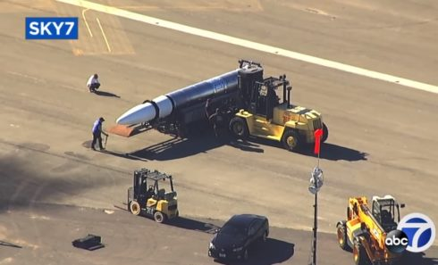 ABC7 News Filmed Stealthy US Space Rocket At Alameda Naval Air Station