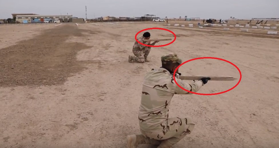 Wooden Stick Instead Of Automatic Rifle: U.S. Munitions Disposal Course For Iraqi Forces