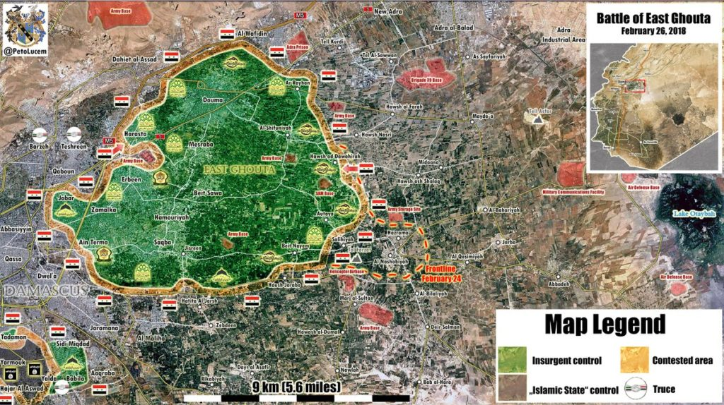Tiger Forces Developing Momentum In Eastern Ghouta (Map, Video)