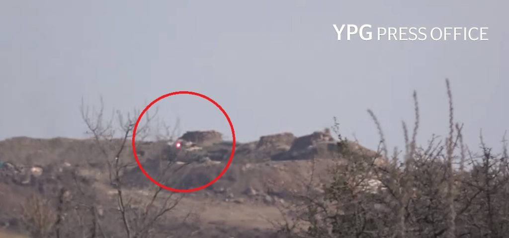 YPG Destroys Turkish Battle Tank With ATGM In Bulbil Distrcit In Syria's Afrin (Video)