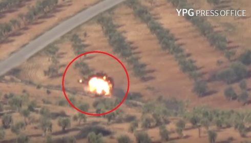 YPG Targets Armoured Vehicle Of Turkey-led Forces In Afrin (Video)