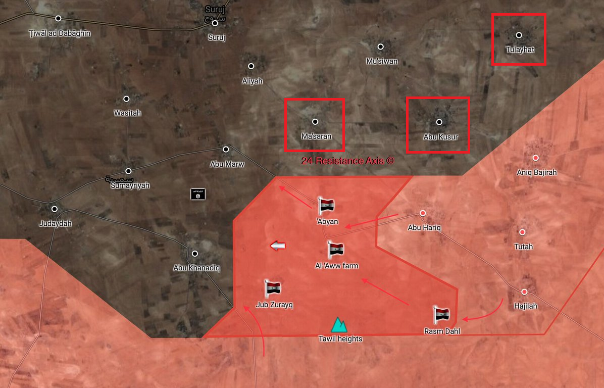 Syrian Army Recaptured Several Villages From ISIS In Northern Hama (Map)