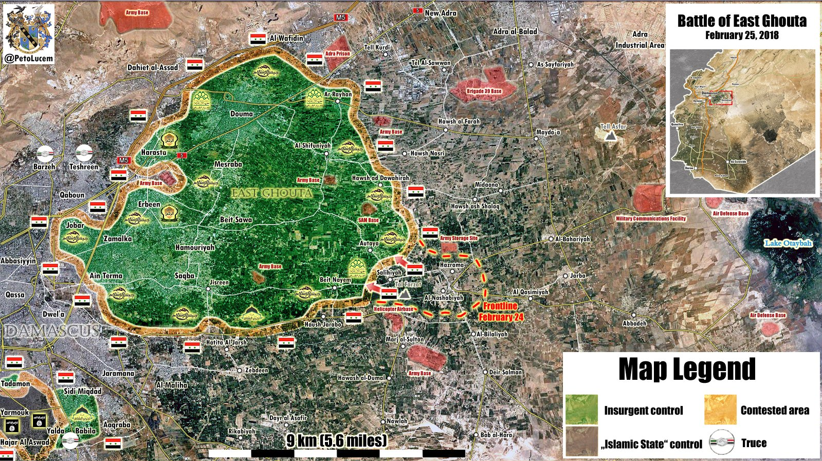 Syrian Army Repels Militant Attack In Northern Part Of East Ghouta (Map, Video)