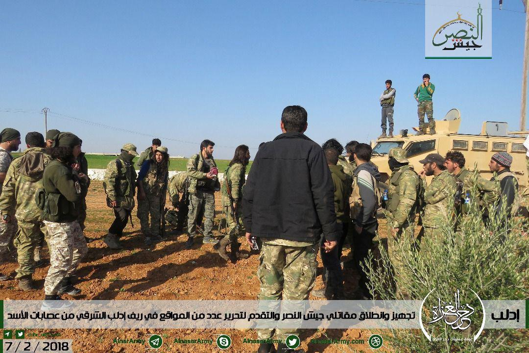 Free Syrian Army, Hay'at Tahrir al-Sham And Turkistan Islamic Party Launch Another Attack At Syrian Army (Photos)