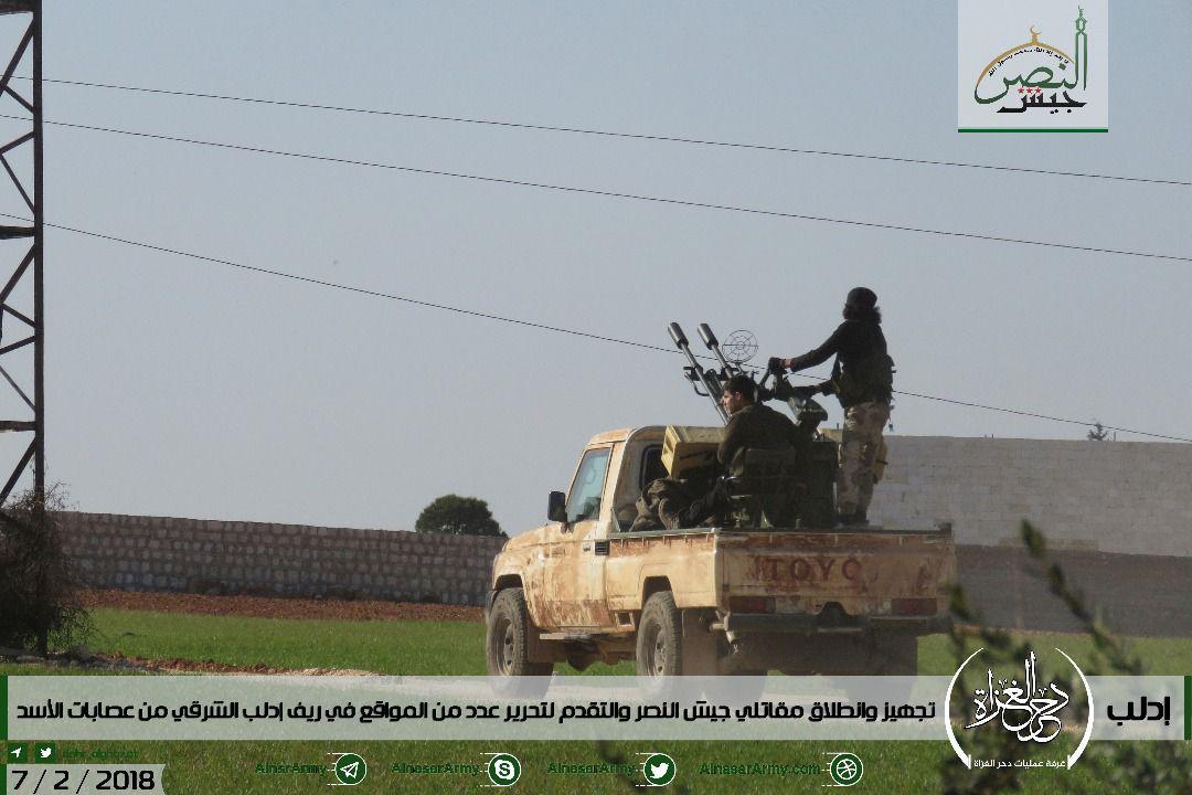 シリア陸軍、ヘイアット・タフリール・アル・シャムとトルキスタンイスラム党がシリア軍の別の攻撃を開始(写真)