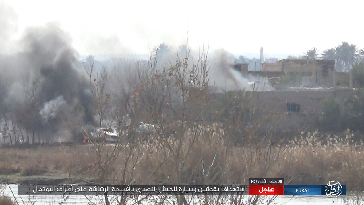 ISIS Attacks Syrian Army Positions Around Al-Bukamal (Photos)