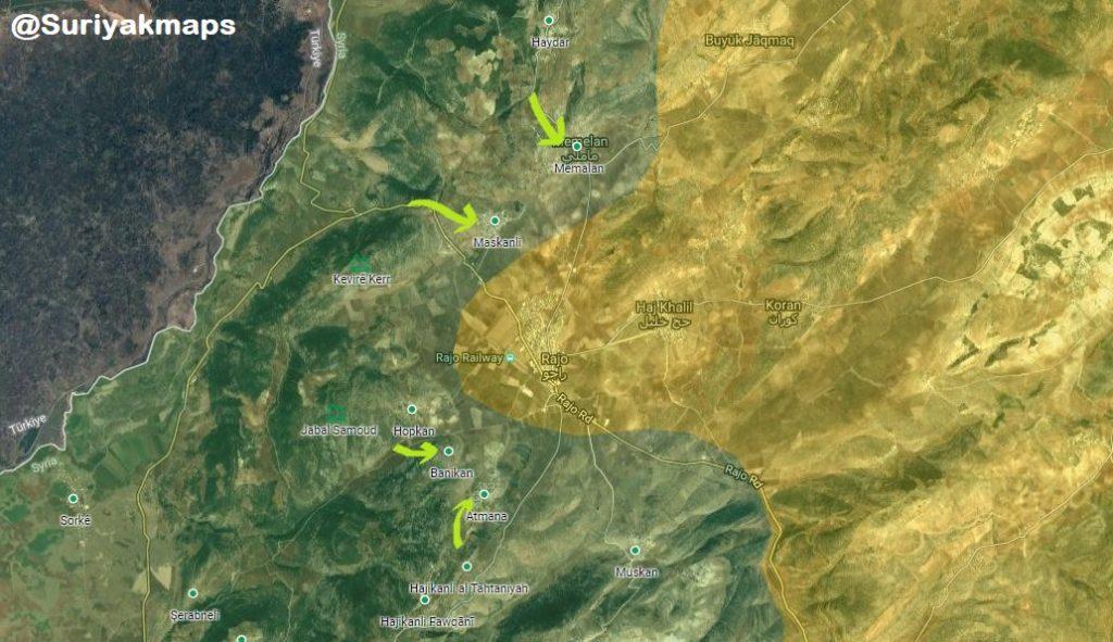 Turkish Forces Besiege Rajo District Center In Afrin (Map, VIdeos)