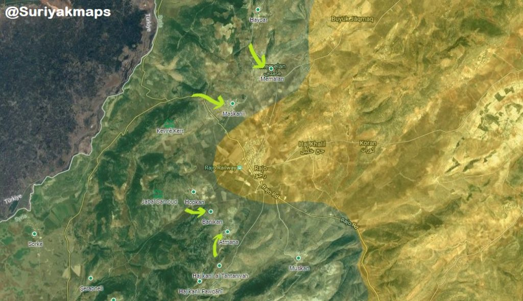 Turkish Forces Besiege Rajo District Center In Afrin (Map, VIdeos)