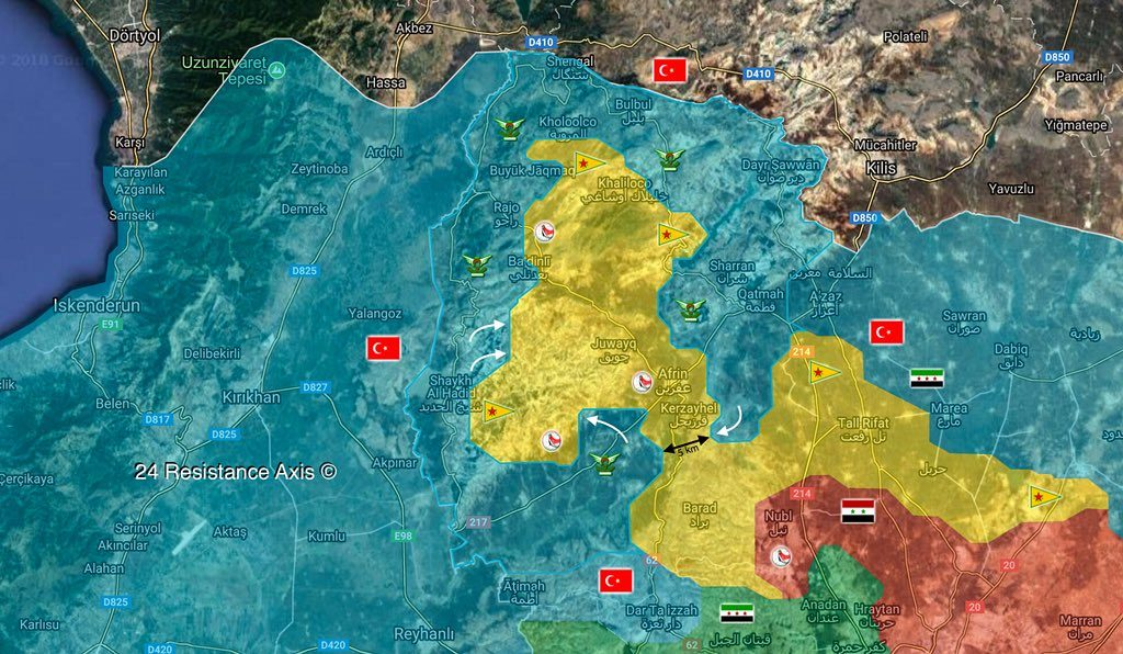 Overview Of Battle For Afrin On March 14, 2018 (Maps, Videos, Photos)