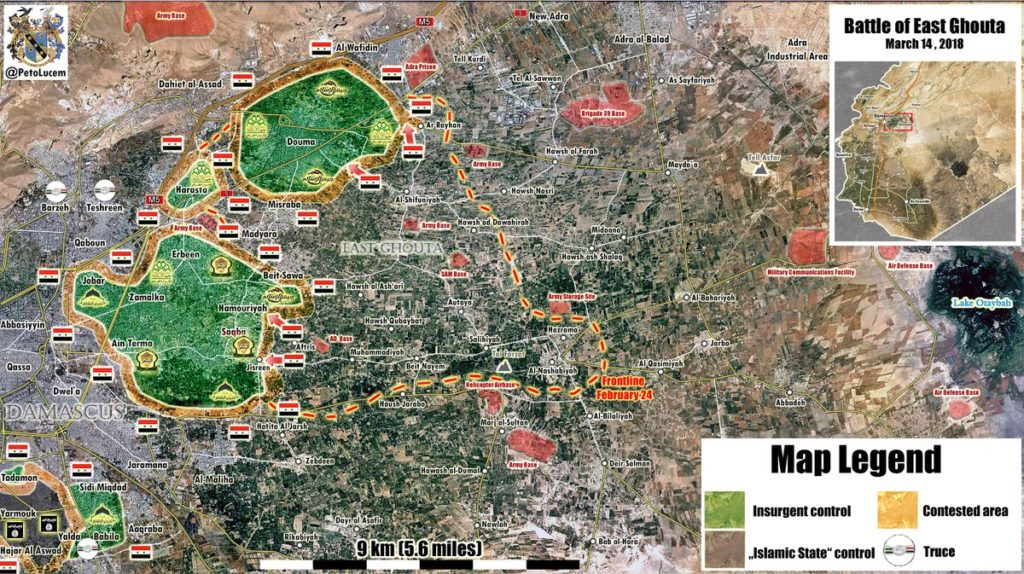 Map Update: Military Situation In Eastern Ghouta On March 14, 2018