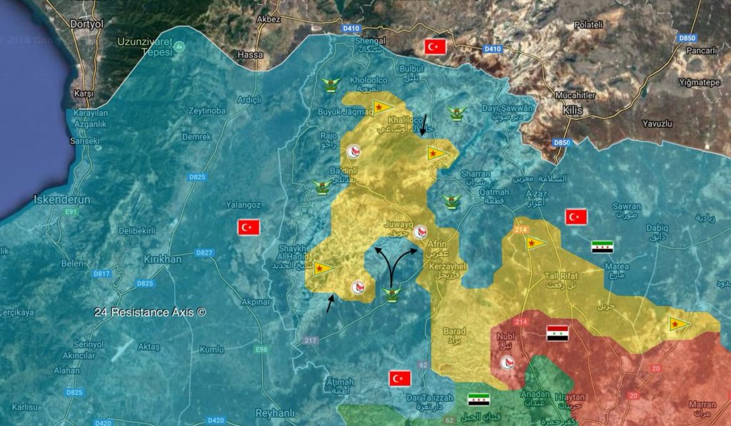 Overview Of Battle For Afrin On March 15, 2018 (Map, Photos)