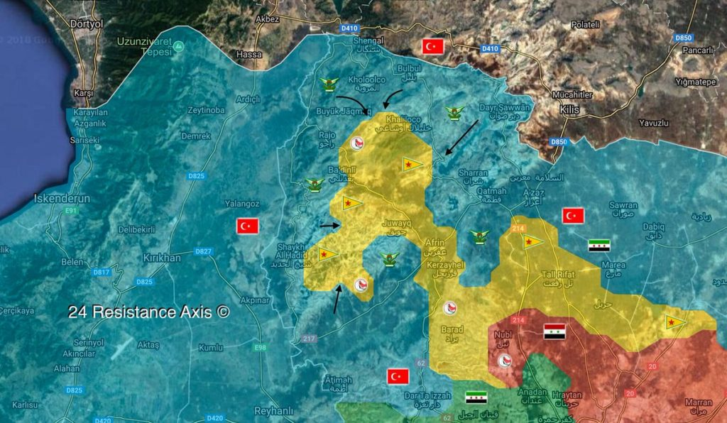 Overview Of Battle For Afrin On March 16, 2018 (Maps, Videos)