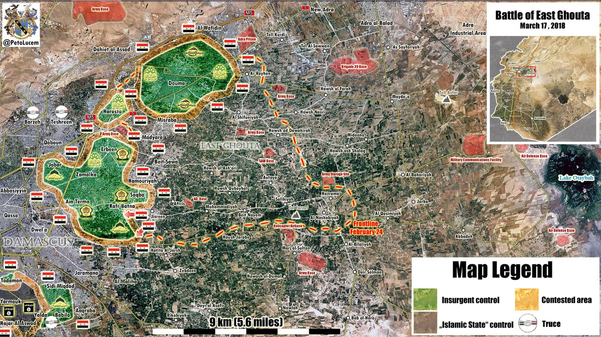 Map Update Military Situation In Eastern Ghouta Following Advance
