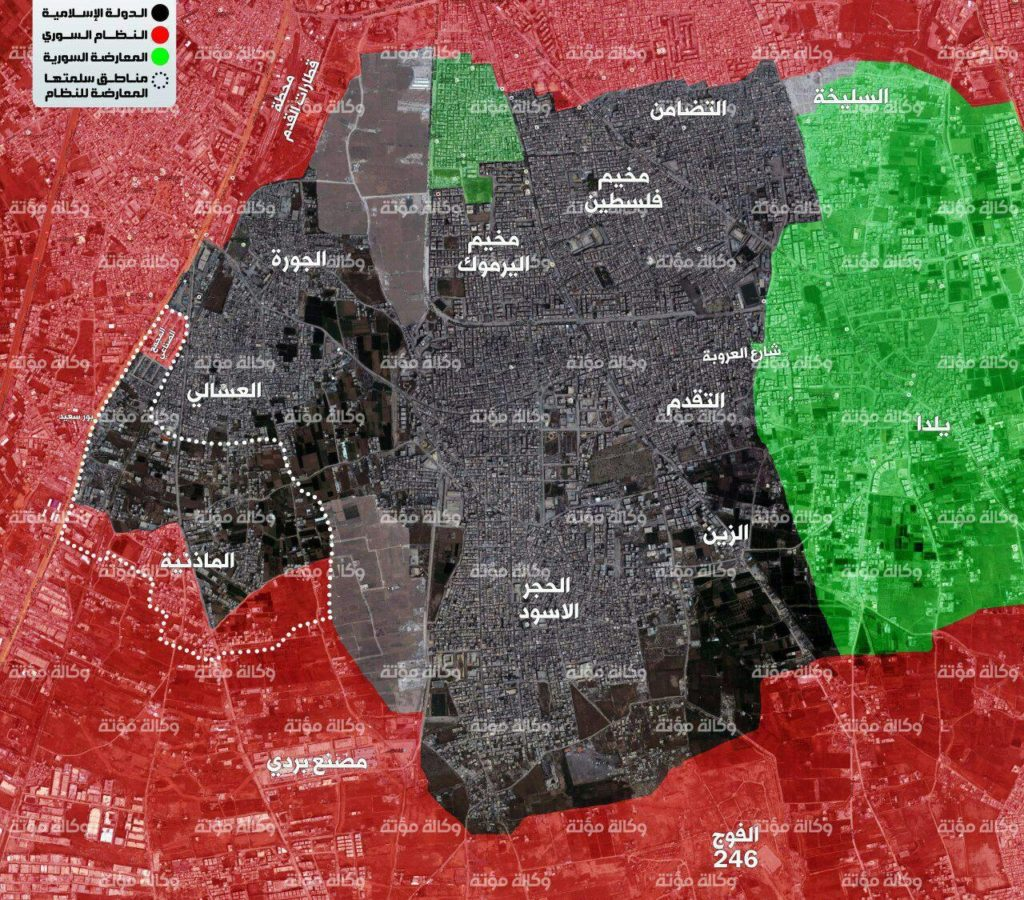 Syrian Army Loses Almost Entire Al-Qaim Area In Southern Damascus To ISIS