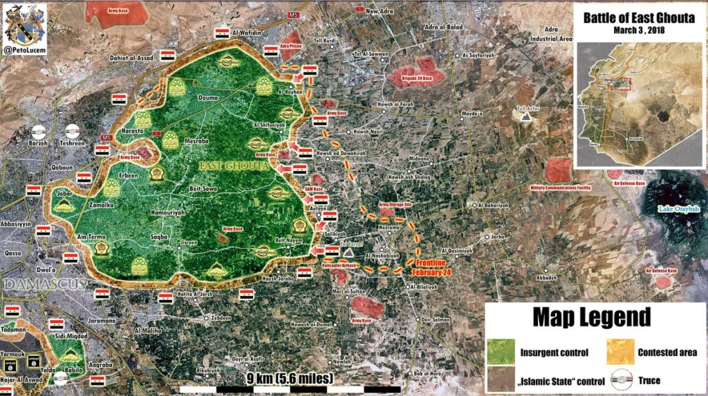 Map Update: Government Forces Liberate Large Area In Eastern Ghouta