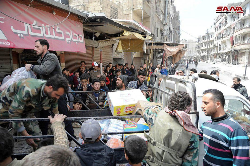In Photos: Syrian Troops In Liberated Areas Of Saqba And Kafr Batna In Eastern Ghouta