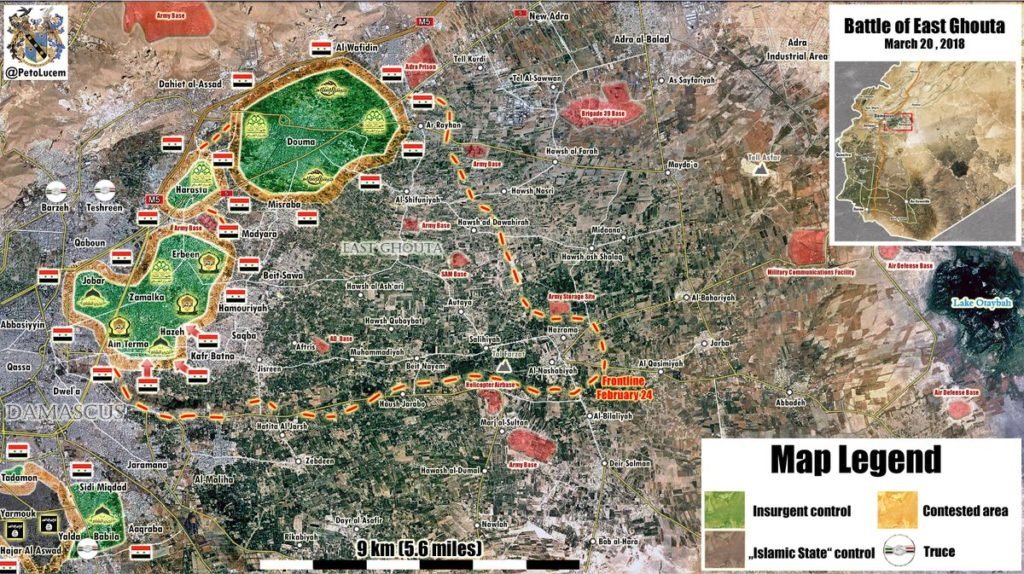 Map Update: Military Situation In Eastern Ghouta On March 20, 2018