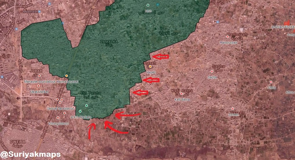 Overview Of Battle For Eastern Ghouta On March 21, 2018 (Maps, Videos, Photos)