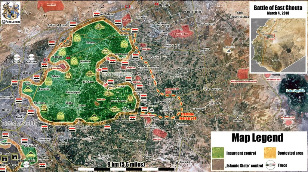 Map Update: Government Forces' Progress Against Militants In Eastern Ghouta