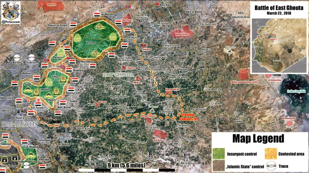 Map Update: Military Situation In Eastern Ghotua As Militants' Resistance Declines