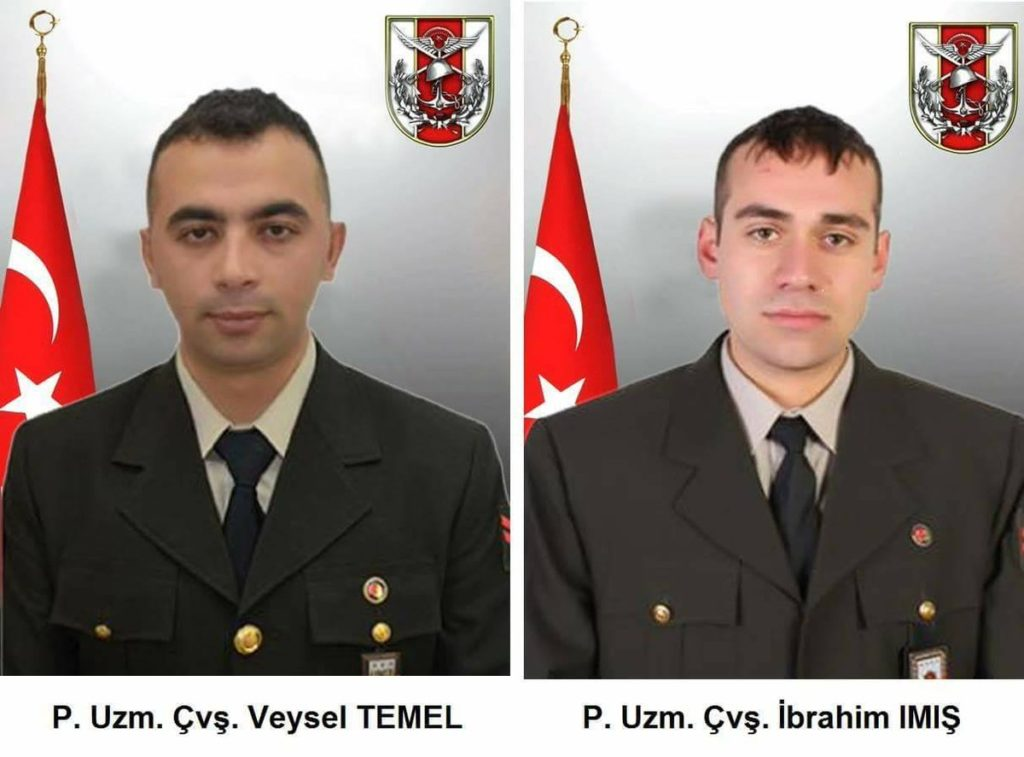 Two Turkish Soldiers Died In IED Blast In Syria's Afrin Area