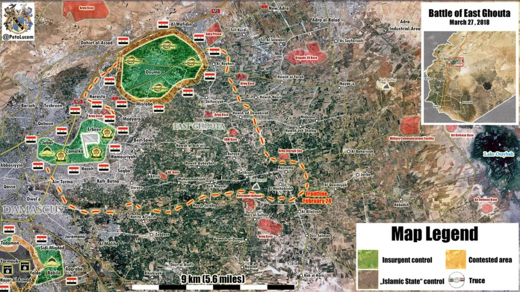 Map Update: Military Situation In Eastern Ghouta On March 27, 2018