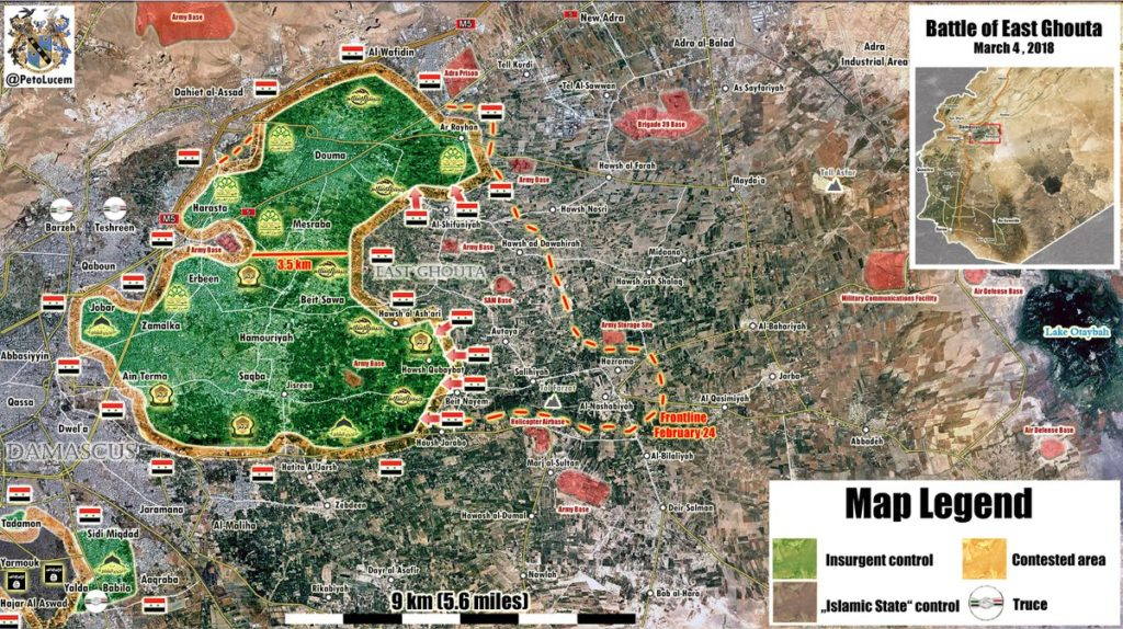 In Maps: Syrian Government Forces Crushing Militants In Eastern Ghouta