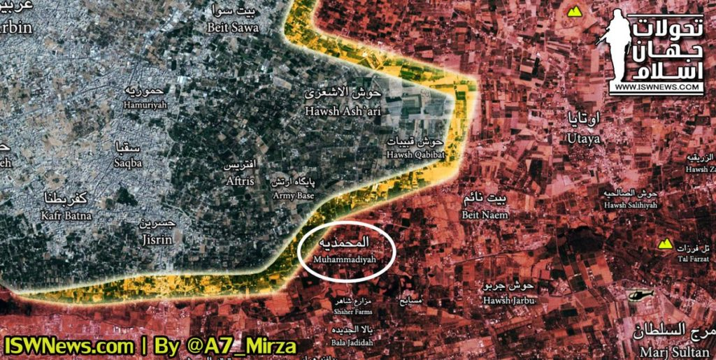 Video: Syrian Forces In Recently Liberated Town Of Muhammadiyah In Eastern Ghouta