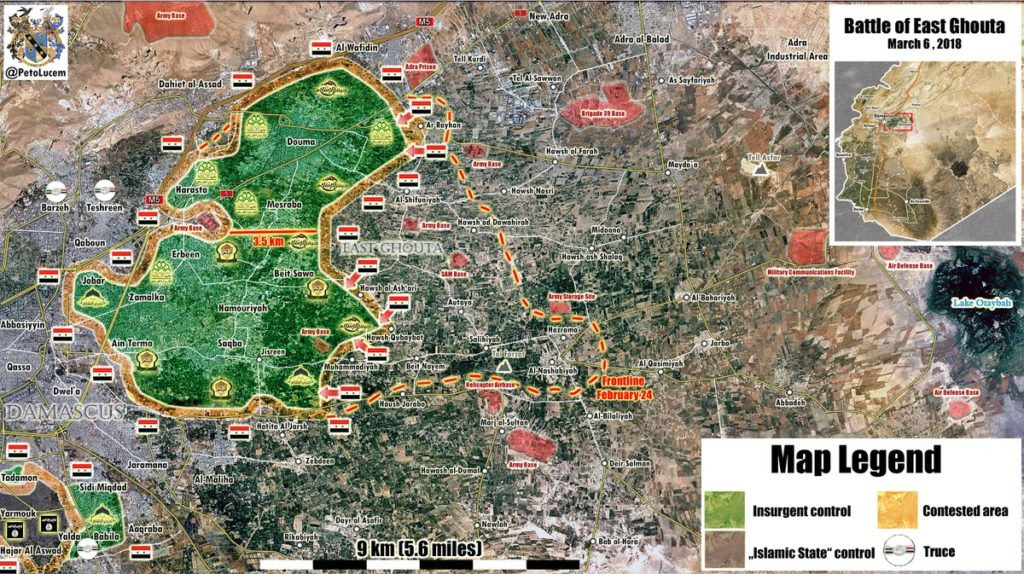 Government Forces Advance On Misraba And Beit Sawa In Eastern Ghouta (Map)