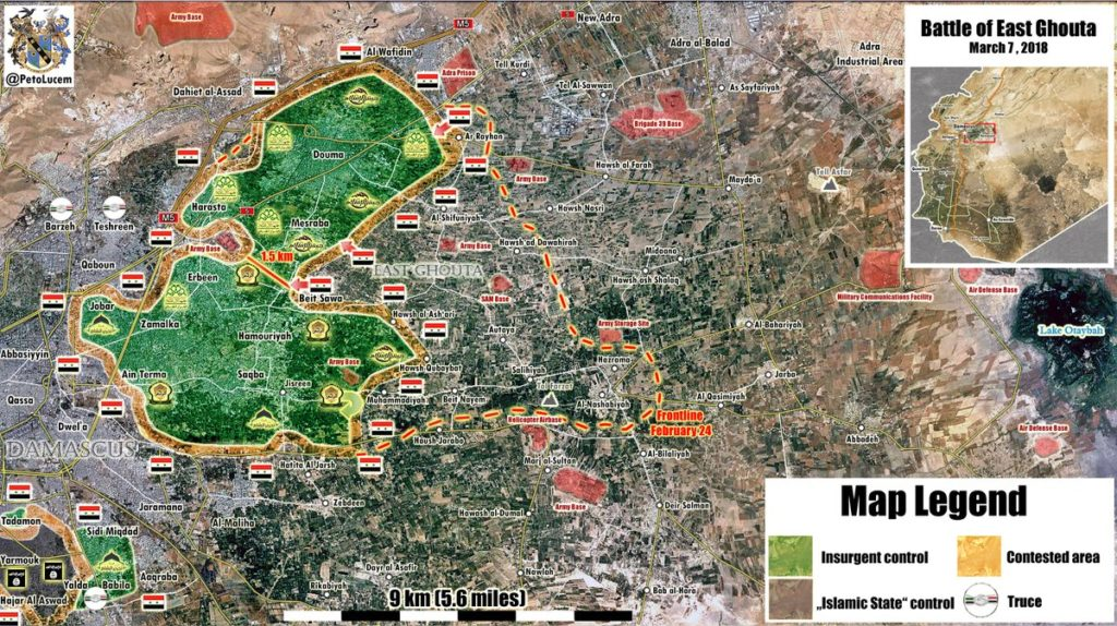 Map Update: Military Situation In Eastern Ghouta Following Liberation Of Beit Siwa By Syrian Army