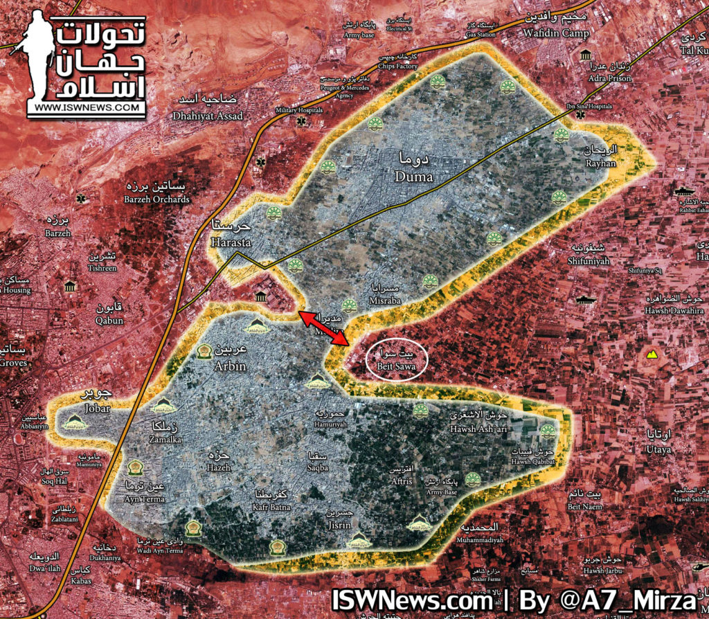 Overview Of Battle For Eastern Ghouta On March 8, 2018 (Map, Video, Photos)