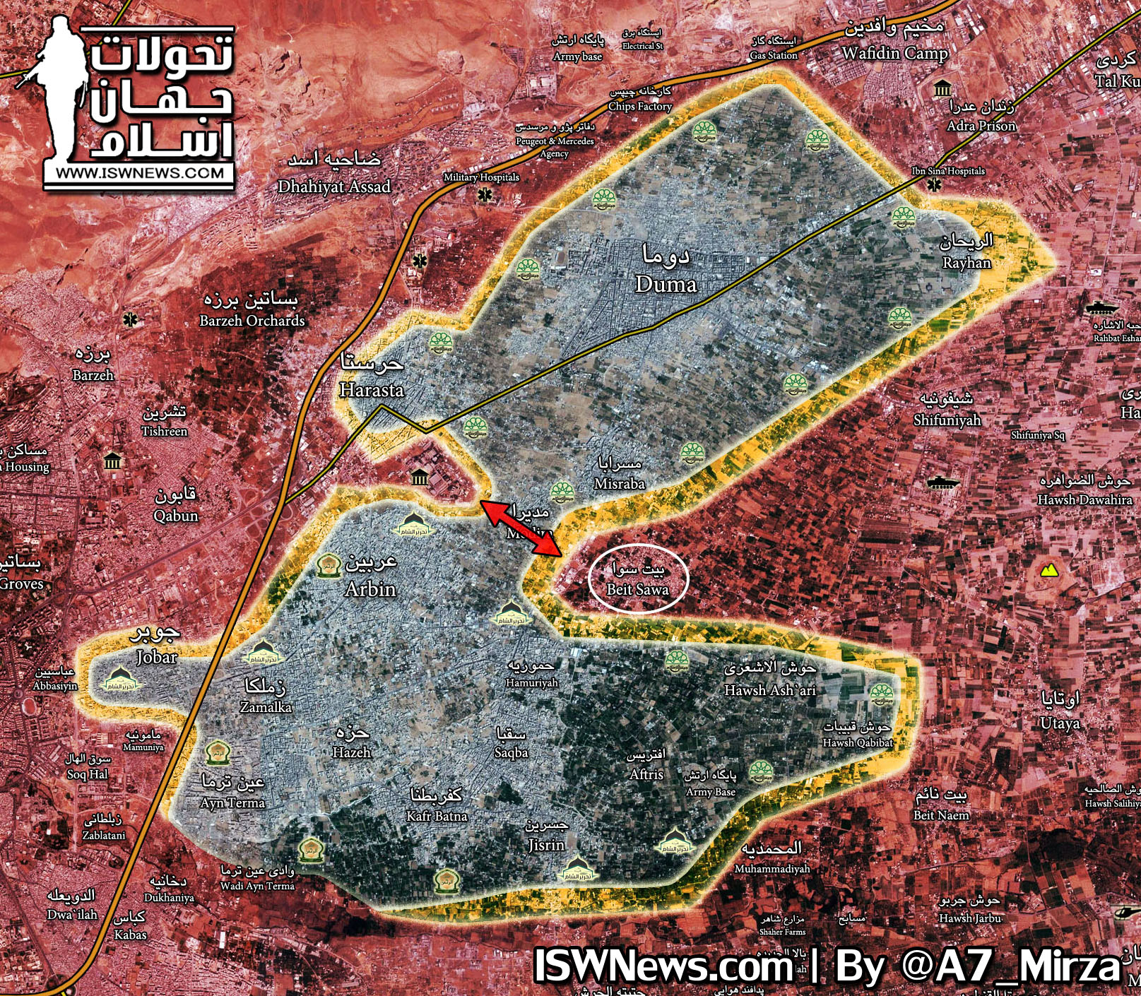overview of battle for eastern ghouta on march 8 2018 map video photos