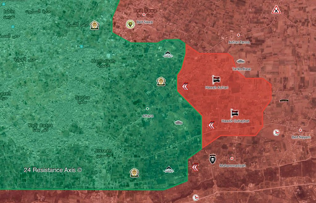 Syrian Army Liberates Two More Villages From Militants In Eastern Ghouta (Map)