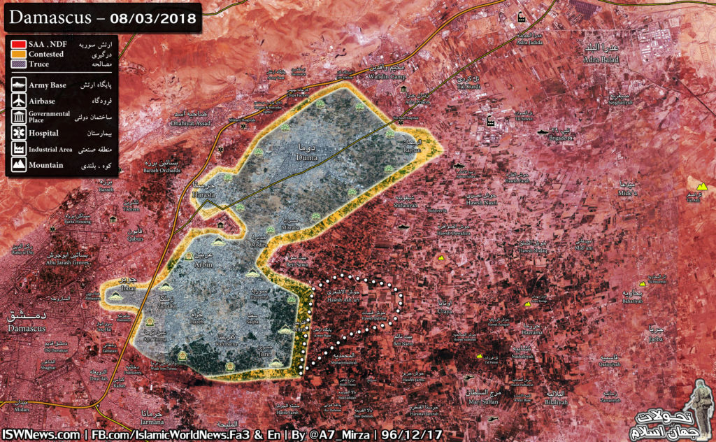 Battle For Eastern Ghouta On March 9, 2018 (Maps, Videos, Photos)