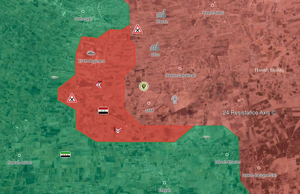 Syrian Army Encircles 60% Of Harasta District, Liberates 274th Regiment Base (Map, Photos)