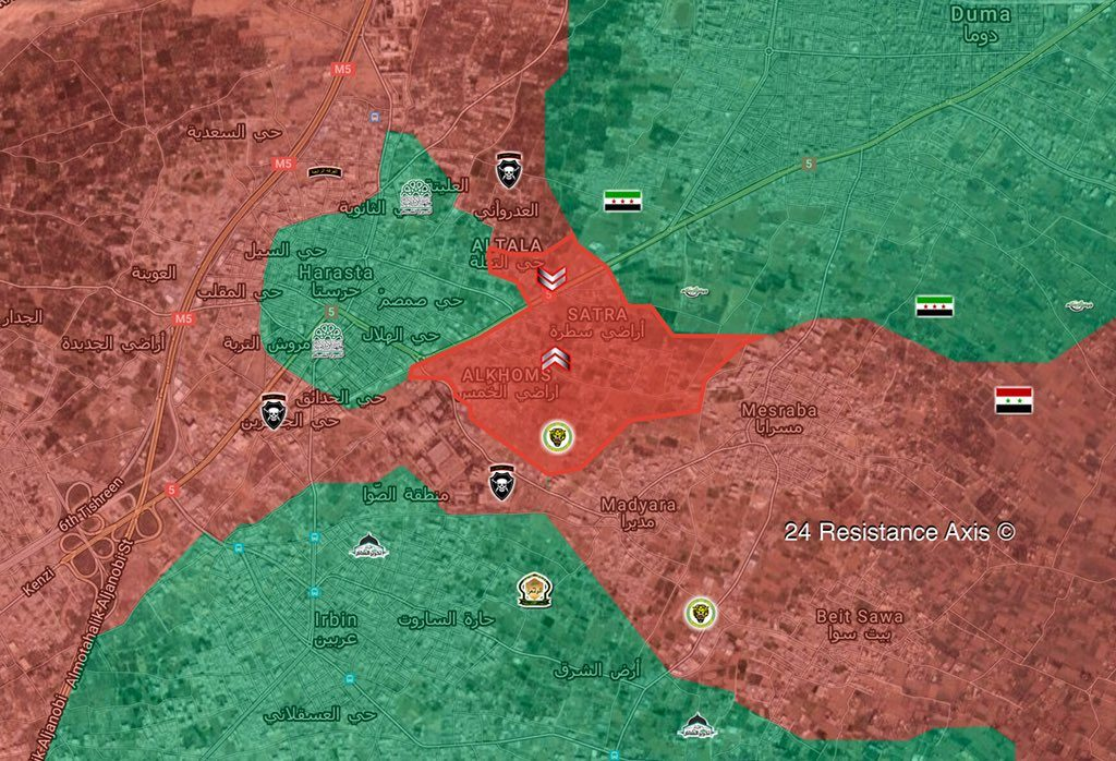 Overview Of Battle For Eastern Ghouta On March 13, 2018 (Maps, Videos)