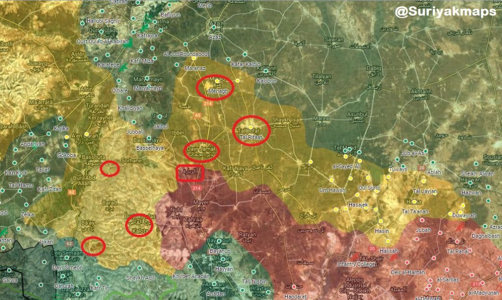 Overview Of Battle For Afrin On March 13, 2018 (Maps, Videos)